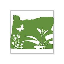 """Funny Oregon Square Sticker 3"""" x 3"""""""