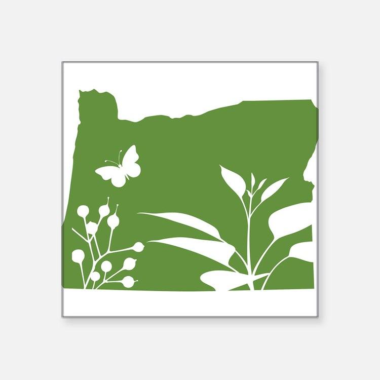 """Cute Oregon dad Square Sticker 3"""" x 3"""""""