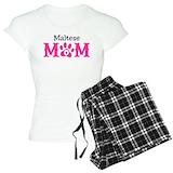 Maltese dog T-Shirt / Pajams Pants