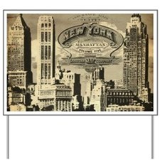 Vintage USA New York Yard Sign