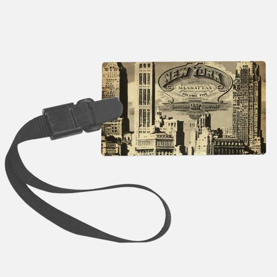 Vintage USA New York Luggage Tag