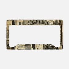 Vintage USA New York License Plate Holder