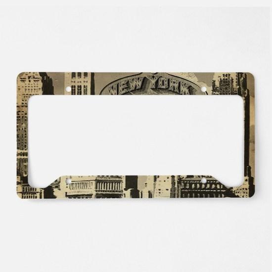 Vintage USA New York License Plate Holder