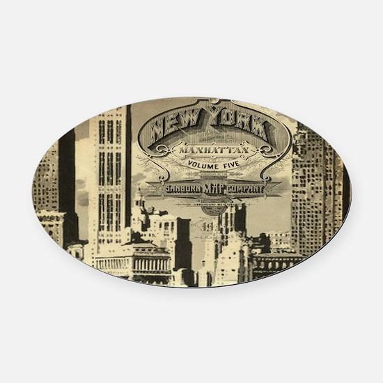 Vintage USA New York Oval Car Magnet