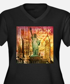cool statue of liberty Plus Size T-Shirt