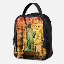 cool statue of liberty Neoprene Lunch Bag