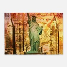 cool statue of liberty 5'x7'Area Rug