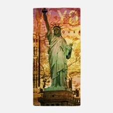 cool statue of liberty Beach Towel