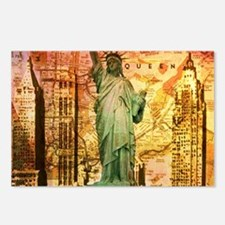 cool statue of liberty Postcards (Package of 8)