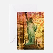 cool statue of liberty Greeting Cards