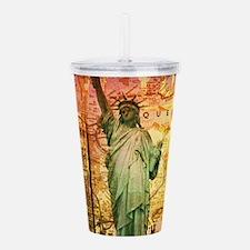 New York Statue of Lib Acrylic Double-wall Tumbler