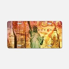 New York Statue of Liberty Aluminum License Plate