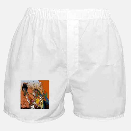 Modern urban Statue of Liberty Boxer Shorts