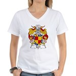Jaen Family Crest Women's V-Neck T-Shirt