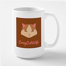Crazy Cat Wife Pink Mug