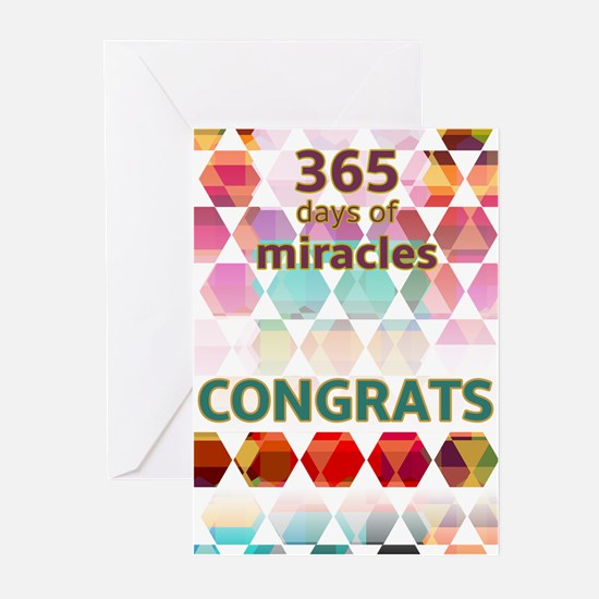 1 Year (miracle) Greeting Cards