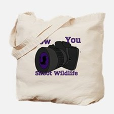 How to shoot wildlife Tote Bag