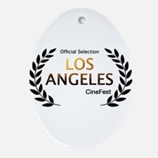 LA CineFest Offcial Oval Ornament