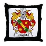 Izquierdo Family Crest Throw Pillow