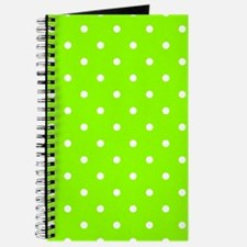 Green, Lime: Polka Dots Pattern (Small) Journal