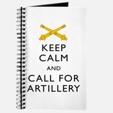 Keep Calm Call For Artillery Journal