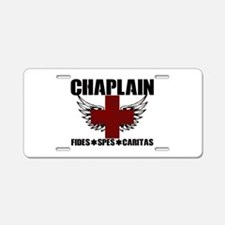 Winged Cross Chaplain Aluminum License Plate