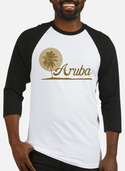Palm Tree Aruba Baseball Jersey