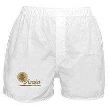 Palm Tree Aruba Boxer Shorts