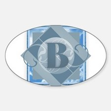 B Monogram - Letter B - Blue Decal