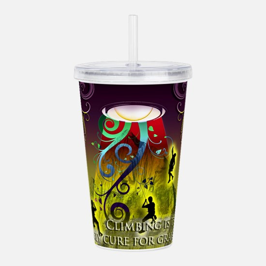 Cute Rock art Acrylic Double-wall Tumbler