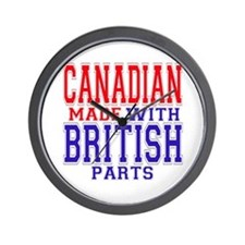 Canadian Made With British Parts Wall Clock