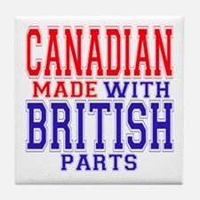 Canadian Made With British Parts Tile Coaster