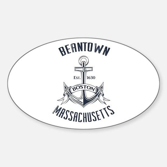 Beantown, Boston MA Sticker (Oval)