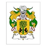 Isasi Family Crest Small Poster