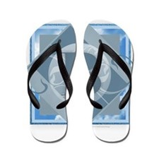 B Monogram - Letter B - Blue Flip Flops
