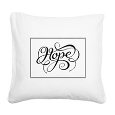 Hope (Looping Card) Square Canvas Pillow