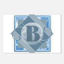 B Monogram - Letter B - B Postcards (Package of 8)