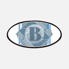 B Monogram - Letter B - Blue Patch