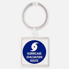 Hurricane Evac Route Square Keychain