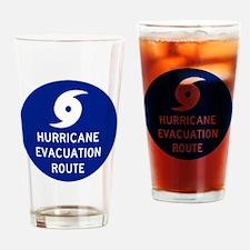 Hurricane Evac Route Drinking Glass