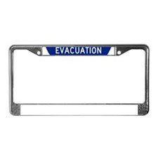 Hurricane Evac Route License Plate Frame