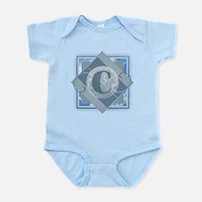 C Monogram - Letter C - Blue Body Suit