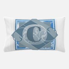 C Monogram - Letter C - Blue Pillow Case