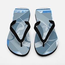 C Monogram - Letter C - Blue Flip Flops