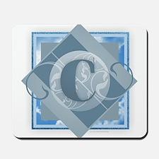 C Monogram - Letter C - Blue Mousepad