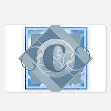 C Monogram - Letter C - B Postcards (Package of 8)