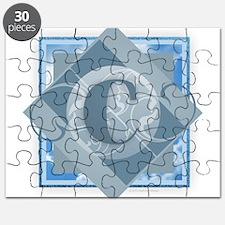 C Monogram - Letter C - Blue Puzzle