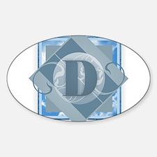 D Monogram - Letter D - Blue Decal