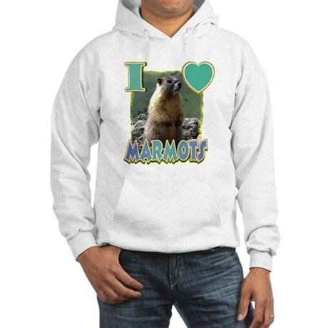 I Love ( Heart ) Marmots Hooded Sweatshirt