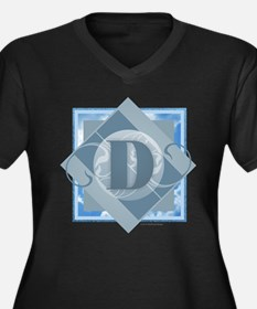 D Monogram - Letter D - Blue Plus Size T-Shirt